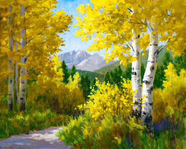 Through the Aspen, oil painting